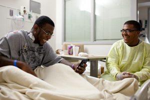 PHOTO: Streetlight volunteers visits patient