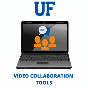 """GRAPHIC: Laptop with the words """"Video Collaboration Tools"""" underneath"""