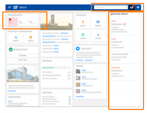 SCREEN GRAB: Student Version of ONE.UF Redesign