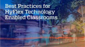 SCREEN GRAB: Slide from Best Practices for HyFlex Technology Enabled Classrooms Presentation