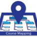 "GRAPHIC: Course ""map"" with a 'You are here' icon."