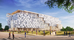 CONSTRUCTION RENDERING: Malachowsky Hall for Data Science & Information Technology