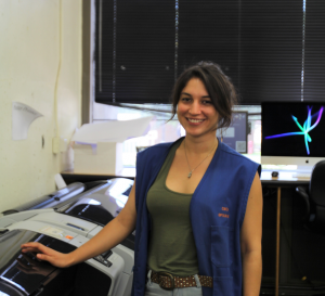 PHOTO: Female student lab supervisor in 24/7Architecture lab
