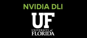 GRAPHIC: NVIDIA DLI with University of Florida block monogram