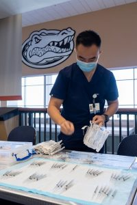 PHOTO: April 2021 COVID vaccination event inside Ben Hill Griffin Stadium
