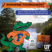 """GRAPHIC: Fighting Gator fishing in Lake Alice with """"No Phishing Sign"""""""
