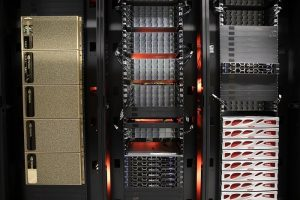 PHOTO: HiPerGatorAI racks in the UF Data Center, June 2021