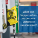 """GRAPHIC: Ransomware graphic showing a gas pump with """"out of service"""" bag attached. Text says, """"What can happen when we become victims of ransomware?"""""""