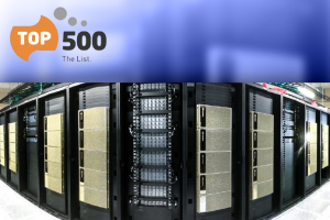 GRAPHIC: HiPerGator AI Photo with Top500 logo above it
