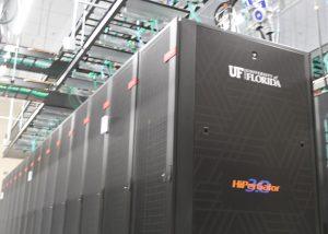 PHOTO: HiPerGator 3.0, UF Data Center. Photo taken July 30, 2021.