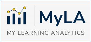 "GRAPHIC: ""MyLA"" My Learning Analytics logo"