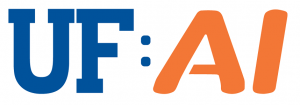 """GRAPHIC: """"UF"""" and """"AI"""" in the HiPerGator font."""